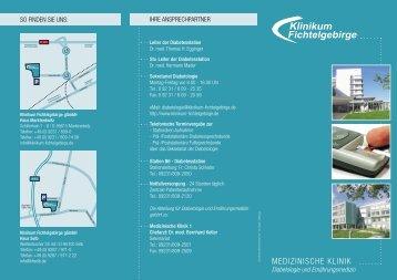 Medizinische Kl. - Diabetologie - Klinikum Fichtelgebirge gGmbH