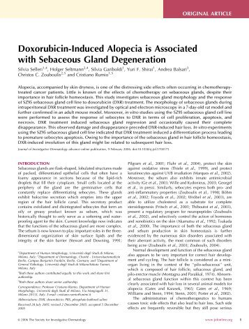 Doxorubicin-Induced Alopecia is Associated with Sebaceous Gland ...