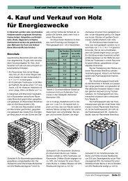 4. Kauf und Verkauf von Holz für Energiezwecke