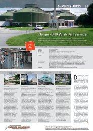 BHKW des Jahres 2012 - BHKW-Infozentrum