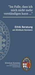 Ethik Flyer zum Download als PDF - Klinikum Konstanz