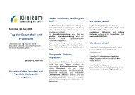 Tag der Gesundheit und Prävention - Klinikum Landsberg am Lech