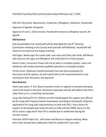 Minutes 2010 07 07.pdf - Plainfield Township