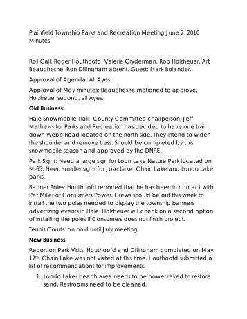 Minutes 2010 06 02.pdf - Plainfield Township