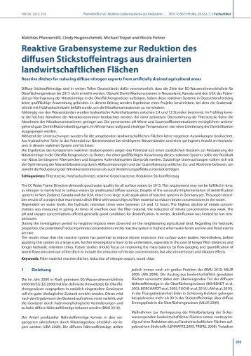 Reaktive Grabensysteme zur Reduktion des diffusen ...