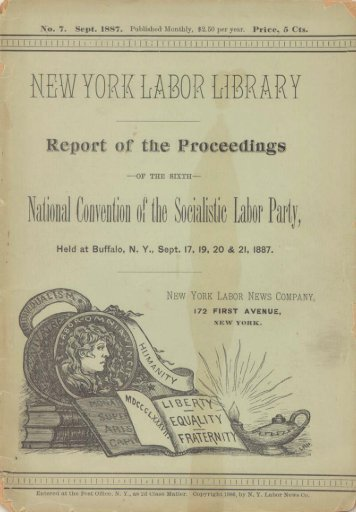 1887 — sixth national convention (pdf) - Socialist Labor Party of ...