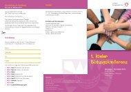 1. Kieler Bildungskonferenz - Landeshauptstadt Kiel