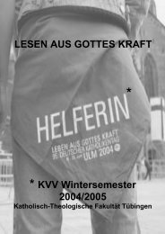 LESEN AUS GOTTES KRAFT * KVV Wintersemester 2004/2005
