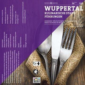 Kulinarische Stadtführungen - Stadt Wuppertal