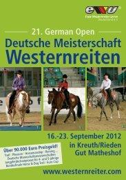 Westernreiten - Erste Westernreiter Union Deutschland e.V.