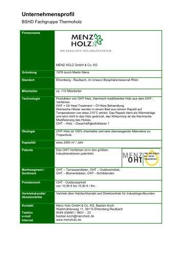 pflegeanleitung oht - menz holz - Menz Holz Katalog