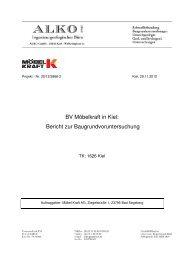 Boden- und Baugrundgutachten - Landeshauptstadt Kiel
