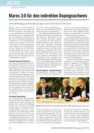 Klares 3:0 für den indirekten Dopingnachweis - Deutsche Zeitschrift ...
