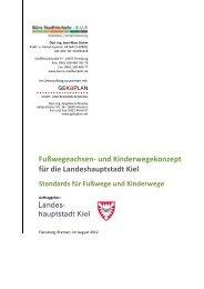 Standards für Fußwege in Kiel - Landeshauptstadt Kiel