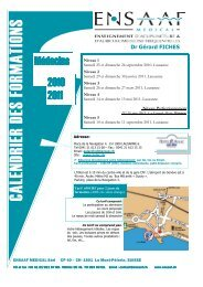 Programme 2010/2011 - ENSAAF