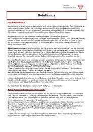 Informationsblatt: Botulismus - Landeshauptstadt Kiel