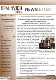 Ausgabe Jänner 01/2013 - Braunvieh Tirol