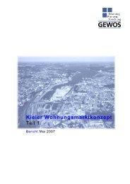 Kieler Wohnungsmarktkonzept - Landeshauptstadt Kiel