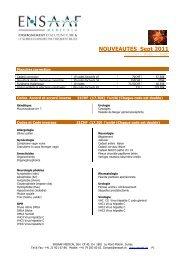 NOUVEAUTES Sept 2011 - ENSAAF