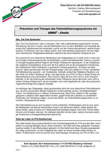 Prävention und Therapie des Fettmobilisierungssyndroms