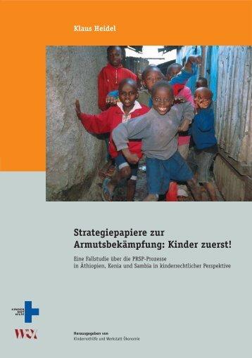 Klaus Heidel, Strategiepapiere zur Armutsbekämpfung: Kinder zuerst ...