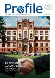 Gemeinsam Zukunft gestalten - Universität Rostock