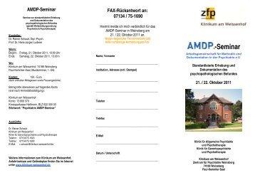 AMDP-Seminar - Klinikum am Weissenhof