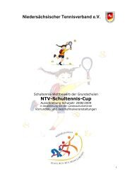 NTV-Schultennis-Cup Niedersächsischer Tennisverband e.V.