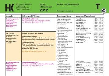 Termin- / Themenplan 2012 - Holz-Zentralblatt