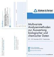 Multivariate Analysenmethoden zur Auswertung biologischer und ...