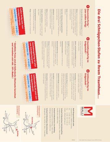 Weitere Infos zu den Musterhäusern - Malli