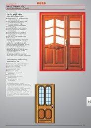 WOODEN FRONT - DOORS HAUSTÜREN IN HOLZ