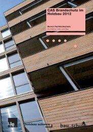 CAS Brandschutz im Holzbau 2012 - AHB - Berner Fachhochschule