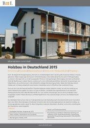 Holzbau in Deutschland 2015 - B&L Marktdaten GmbH