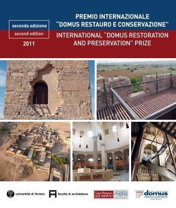 Scarica la brochure 2011 del premio - Premio Domus restauro e ...