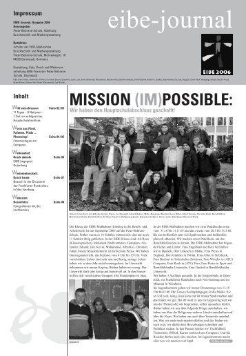EIBE-Journal 05/06 - Peter Behrens Schule