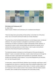 Why Modern and Contemporary Art? by Jasper Sharp Adjunct ...
