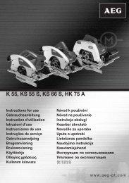 K 55, KS 55 S, KS 66 S, HK 75 A