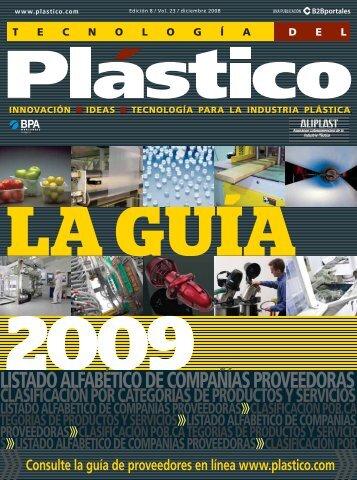 LISTADO ALFABÉTICO DE COMPAÑÍAS PROVEEDORAS - Plastico