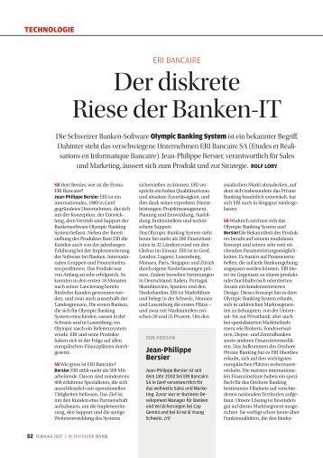 Der diskrete Riese der Banken-It