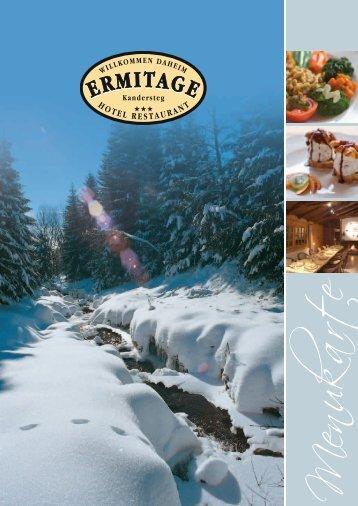 Hauptgerichte - Hotel Ermitage Kandersteg