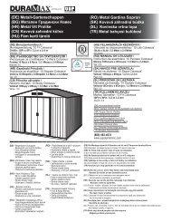 (DE) Metall-Gartenschuppen (BG) Метален ... - Bayer Outdoor