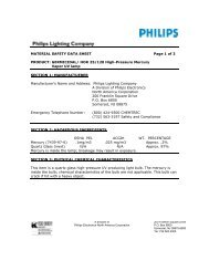 MATERIAL SAFETY DATA SHEET Page 1 of 3 ... - Philips Lighting