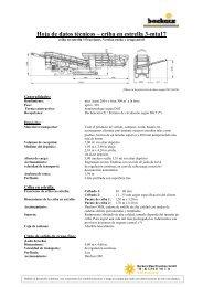 Datos técnicos - Backers Maschinenbau GmbH