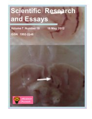 Download complete issue (pdf 3360kb) - Academic Journals