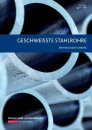 GESCHWEISSTE STAHLROHRE - Klöckner Stahl