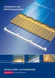 Lichtplatten und Belichtungssysteme - Klöckner Stahl