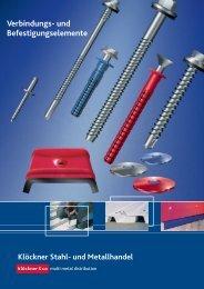 Verbindung- und Befestigungsmittel - Klöckner Stahl