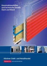 Konstruktionshilfen und technische Details Dach ... - Klöckner Stahl