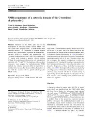 NMR-assignments of a cytosolic domain of the C-terminus of ...
